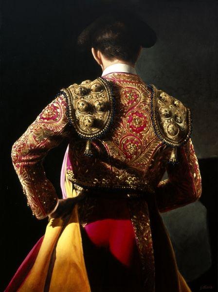 El matador donde un elegante traje cuando se está luchando contra el toro que se llama traje de luces