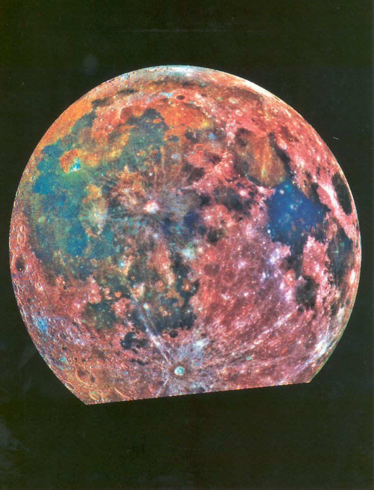 Retrospective: Moon This false-color image is composed of 15 images taken through three color filters by NASA's Galileo spacecraft as it passed through the Earth-Moon system on Dec. 8 1992.