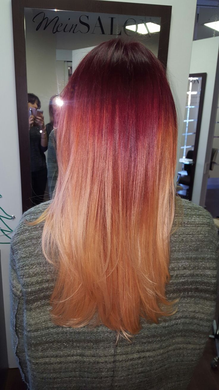Rot Kupfer Blond Ombre