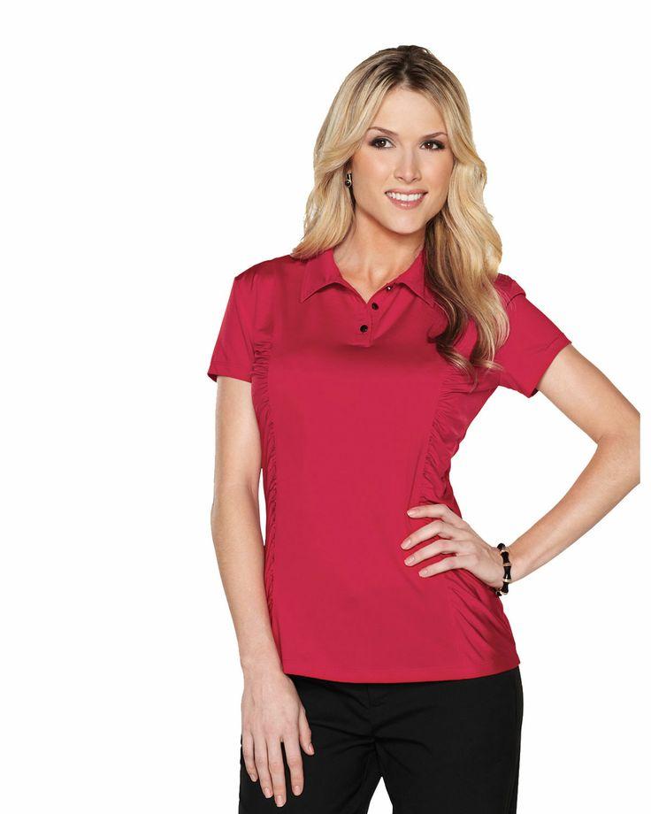 Womens knit shirt 85% polyester 15%spandex Tri mountain LB027