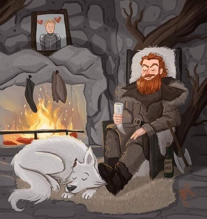 Tormund Game Of Thrones Anime Dzhon Snou Illyustracii Art