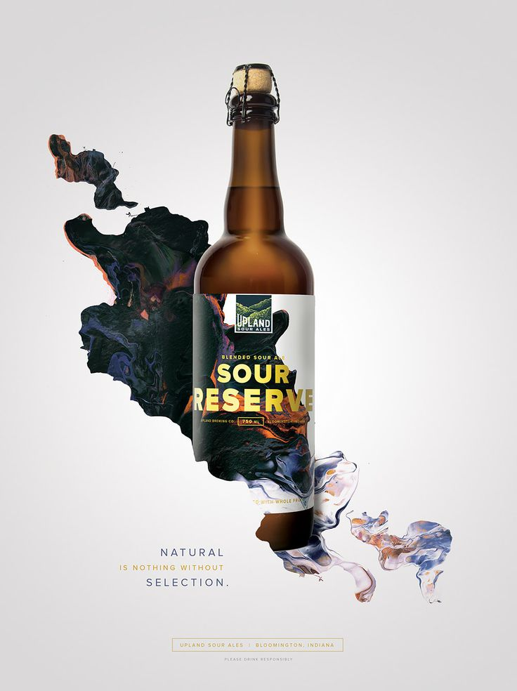 "Indianapolis-based agency Young & Laramore created this vibrant advertising campaign and packaging design for Upland Sour Ales.  ""Sour ales — beers that are made with wild yeast and often intensely tart, acidic and/or funky — are not for everyone. But for adventurous craft drinkers who appreciate and seek them out, Upland's wood-aged sours are among the finest in the world.  As we learned more about the brewing process, it became evident that a crucial part of what makes Upland'..."