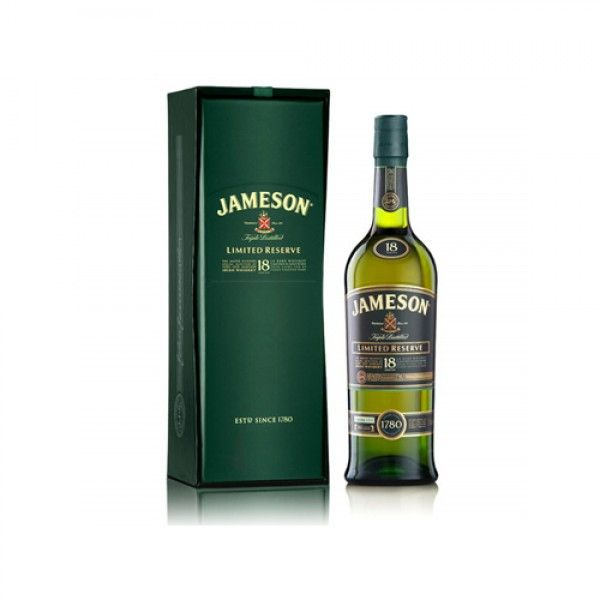 Jameson 18 Year Irish Whiskey (Engraved Bottle); Celebrate in style with a bottle of Jameson 18 Year Old Limited Reserve Blended Irish whisky | spiritedgifts.com