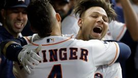 Houston Astros first baseman Yuli Gurriel will miss the first five games of next season for making a racist gesture toward Los Angeles Dodgers pitcher Yu Darvish during Friday night's World Series Game 3.