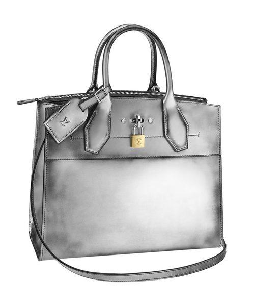louis vuitton blackwhite studded city steamer pm bag bags