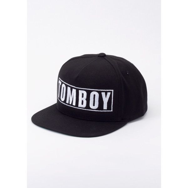 Wildfang The Tomboy Snapback ($34) ❤ liked on Polyvore featuring accessories, hats, adjustable snapback, adjustable hats, green snapback, adjustable snapback hats and embroidered hats