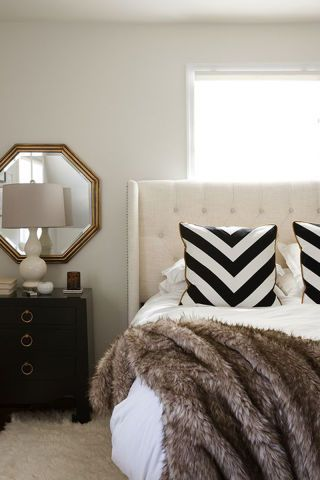 Interior design pinspiration the glamorous life padded for Fur headboard