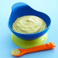 Avocado Banana Puree. Ages 4 months and up. Make it into a toddler smoothy by adding yogurt.