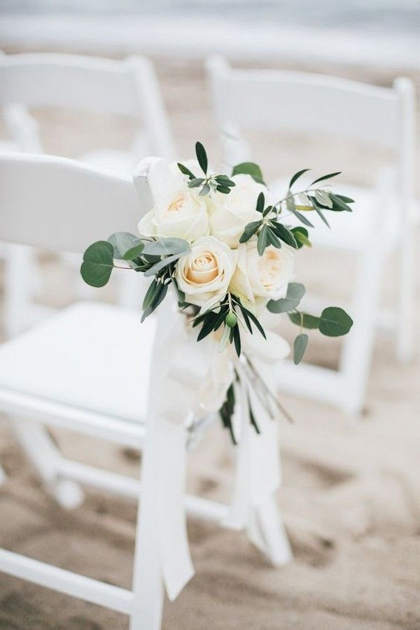 32 Inspirational Outdoor Wedding Aisle Decoration Ideas Page 2 Of 2 Oh Best Day Ever Wedding Chair Decorations Wedding Aisle Decorations Beach Wedding Aisles