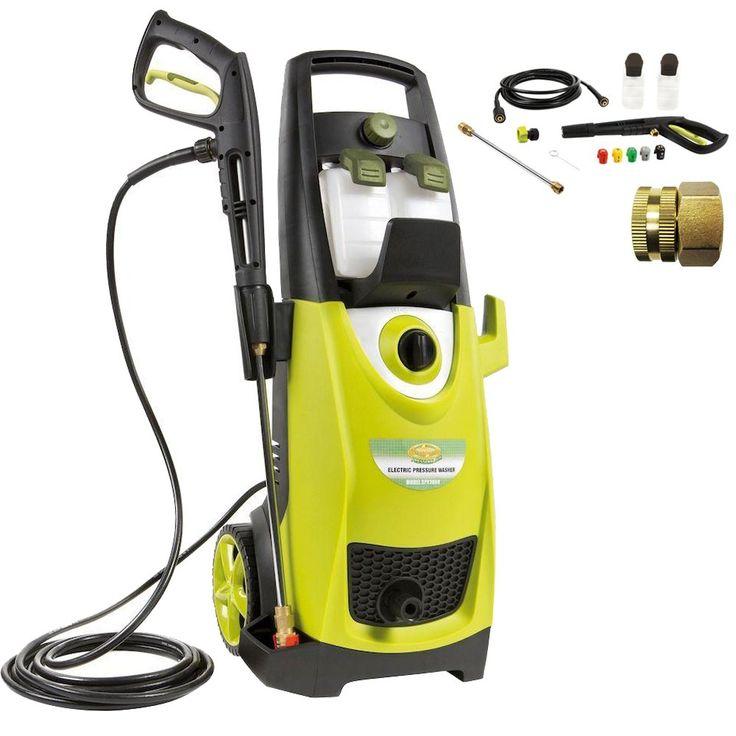 Sun Joe SPX3000 Pressure Joe 2030 PSI Electric Pressure Washer Accessory Bundle includes Pressure Washer, Quick-Spray Tip and Brass Connector