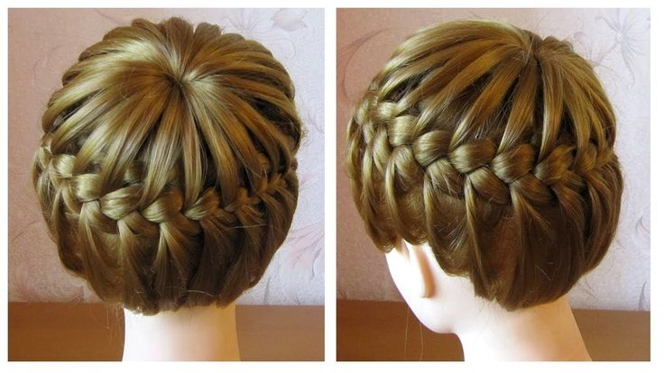 Tuto coiffure tresse serre-tête ♛ Tresse couronne cheveux mi longs ♛ Cro...