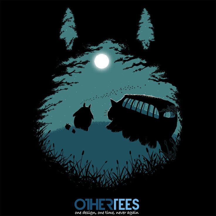Walking Home by pigboom Shirt on sale until 27 March on http://othertees.com #totoro