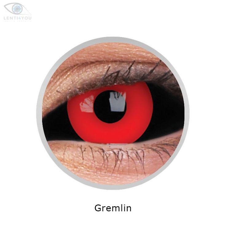 Lenti a contatto colorate rosse LENTI SCLERALI GREMLIN 22mm SCLERA tutto l'occhio | SCLERA LENSES| HALLOWEEN | Lenti4YOU