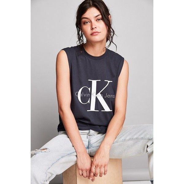 Calvin Klein For UO Muscle Tee ($39) ❤ liked on Polyvore featuring tops,