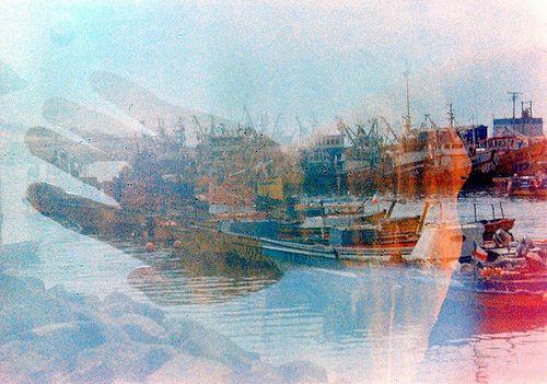 Brazos de océano   Flickr: Intercambio de fotos. Doble exposición con Yashica 635.