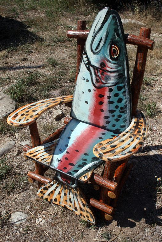 http://www.etsy.com/listing/105304575/hand-painted-sassafras-log-fish-arm