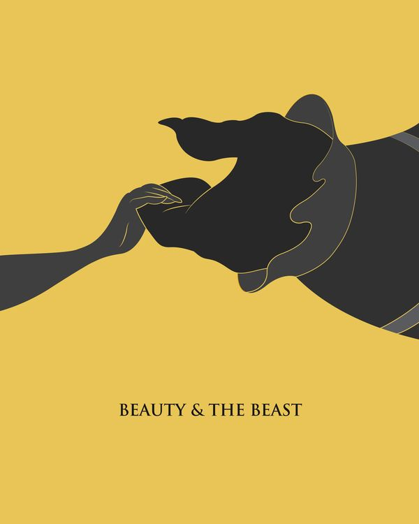Type/Image Dominant Minimalistic Disney Posters by Monique Sterling, via Behance