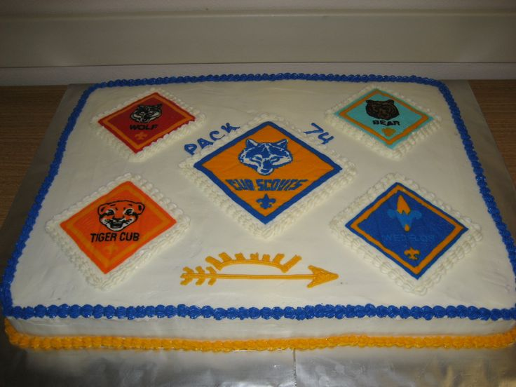 cub scout cake | Cub Scout Blue & Gold — Other Cakes