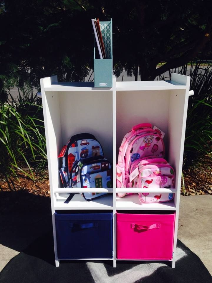 This gorgeous and ultra-practical school organiser has been styled and designed by Shelley Mason, founder and owner of Lime Tree Kids, and mum of two! Perfect for storing backpacks, lunch bags, school projects and more, all in one easy-to-access place!