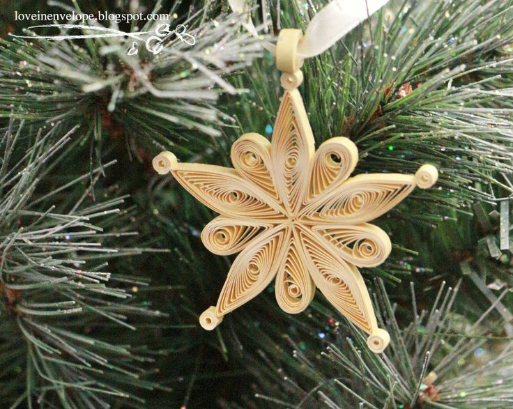 Handmade Ornaments   Quilled Snowflake Handmade Christmas Ornament Pic #19