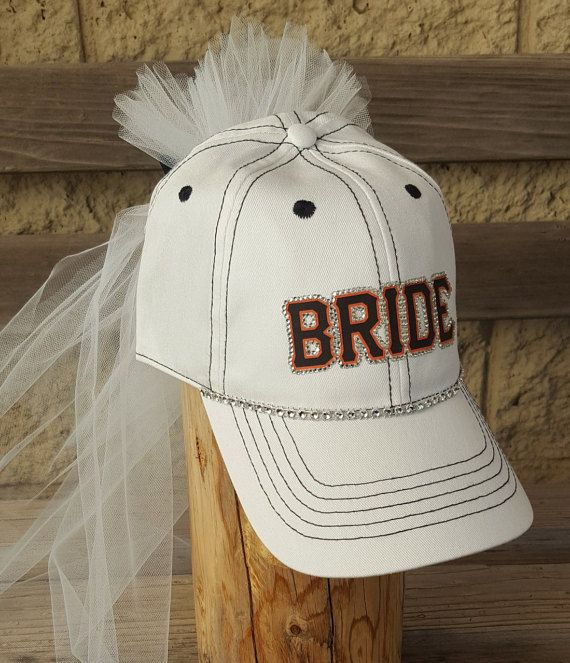 Bachelorette Party Hat with veil For bride to be baseball theme bachelorette party, bridal shower, rehersal or honeymoon