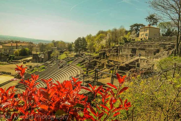 Roman theater in the medieval district of Lyon, France