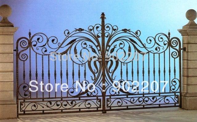 Hench двери кованые железные ворота, Безопасности железные ворота, Ворота из кованого входной двери железная дверь