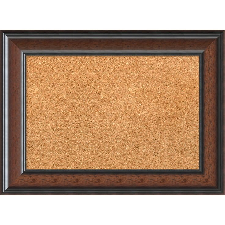 amanti art framed cork board cyprus walnut