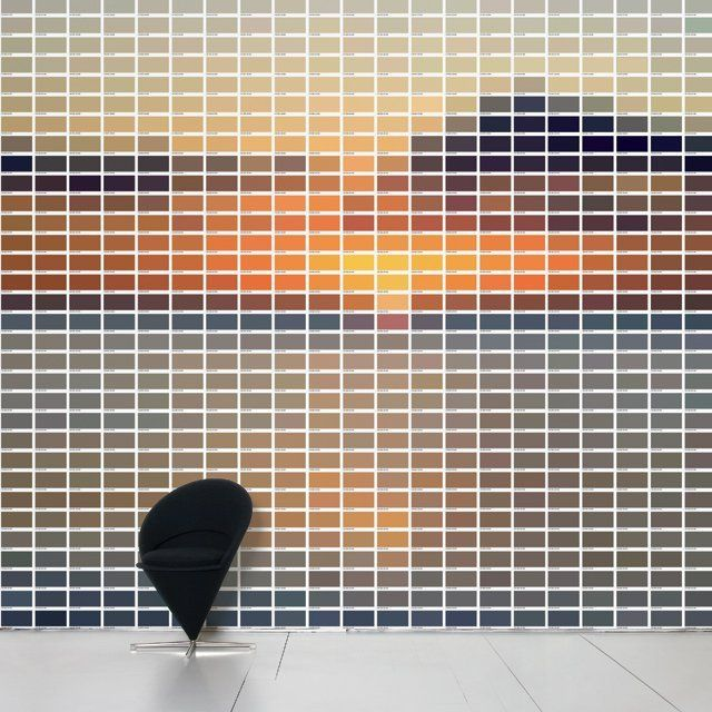Normally I hate it when people use Pantone or paint swatches for 'crafts', but this is truly art (Pantone Walls)
