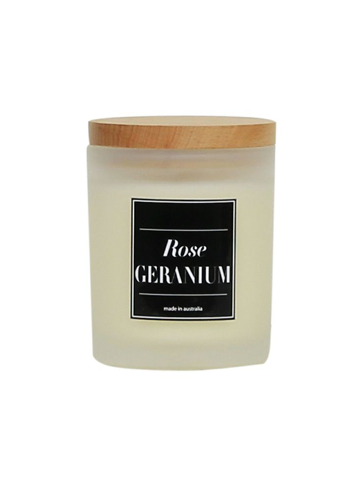 Scented candles in a selection of Japanese quince, rose geranium, and lemon sage - $39.95 available at Decjuba