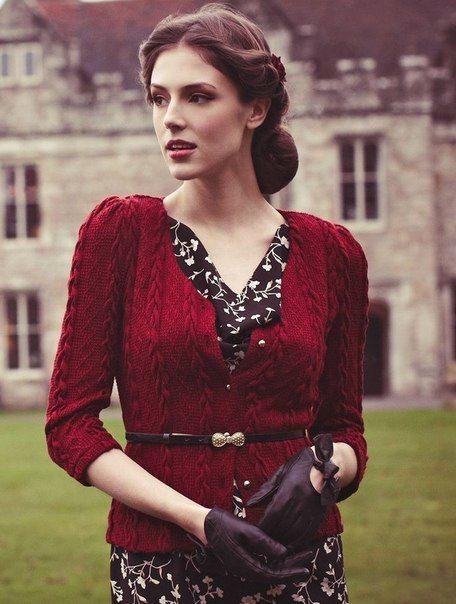 fashion, red, dark, vintage