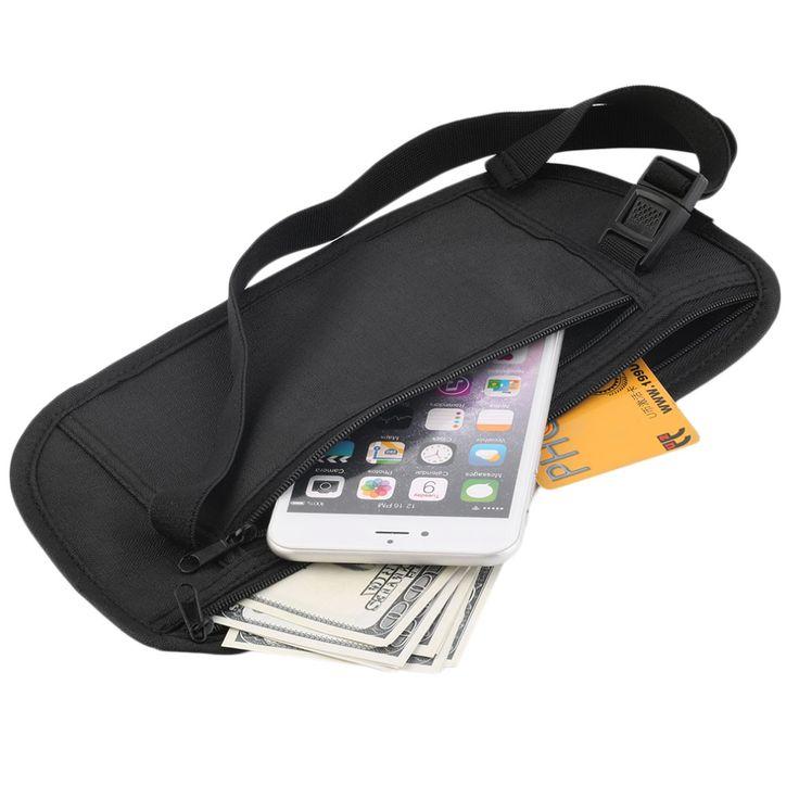 Bolsa de viagem Com Zíper Escondido Cintura Segurança Compact Dinheiro corrida/esporte Cintura Saco Cinto frete grátis