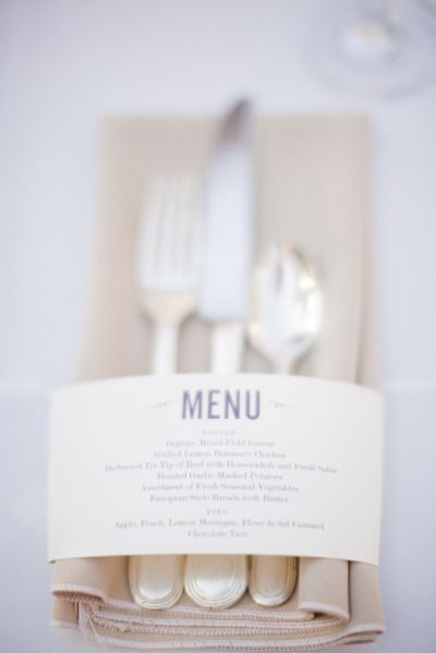 menu om servet en bestek