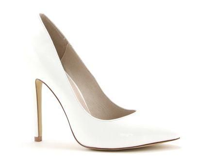 Chaussures Blanches Avec Talon Haut N71qtFt1