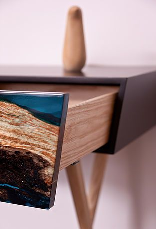 Wood and resin furniture project : VOLIS By Atelier Insolite Swiss Movie link : https://vimeo.com/164222074 VOLIS project : Meuble en bois et résine par Atelierinsolite