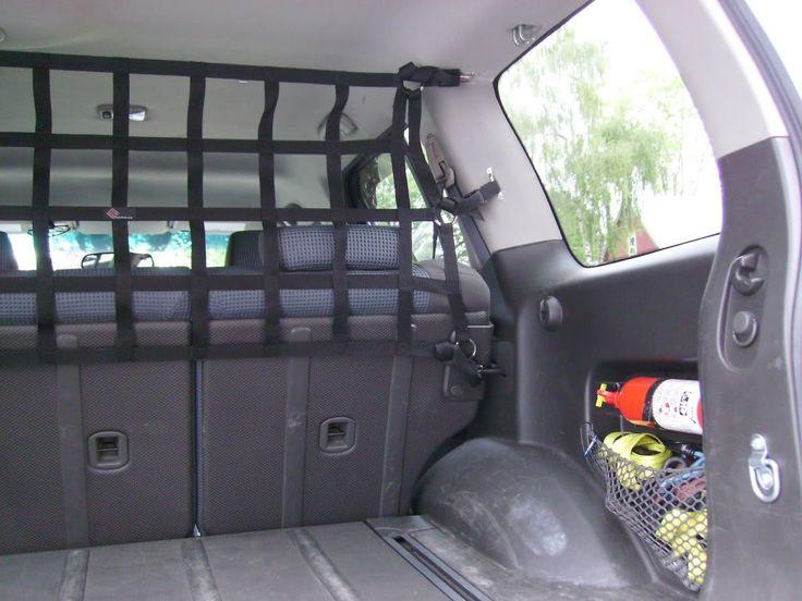 1999 - 2015 Nissan Xterra Raingler upper dog and camping gear barrier divider