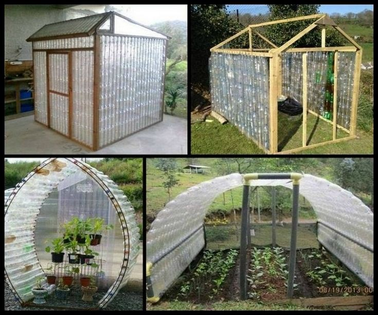 Building your own greenhouse doesn 39 t have to be expensive for House made by waste material