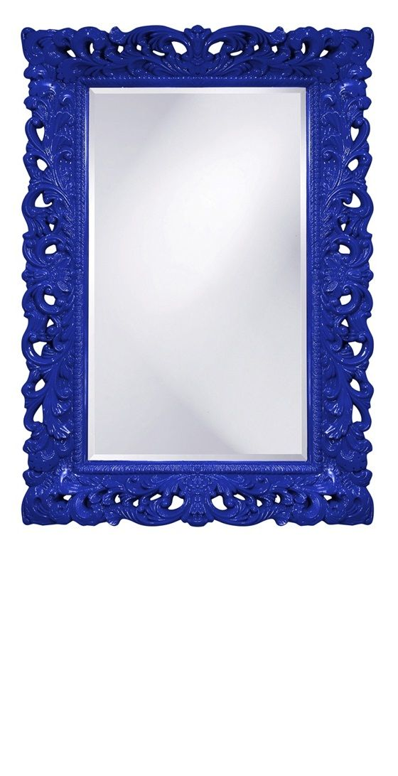 Wall Mirrors Royal Blue High Gloss Lacquer Baroque Mirror So Beautiful One Of