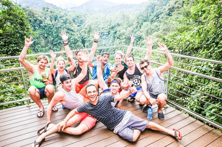 La Fortuna is a stop often skipped by tourists opting to forgo the  unpredictable weather. We say bring it on! La Fortuna is jam packed with  amazing activities, views, and laughs! We aren't sure if it was the swim  under a giant waterfall, the magic river, or the rapid rafting but we can't  get