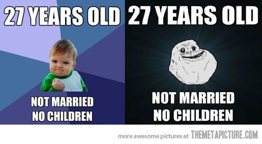 Even though I'm only 26, I feel both of these simultaneously.  It changes from moment to moment.-Today officially 27 :0!
