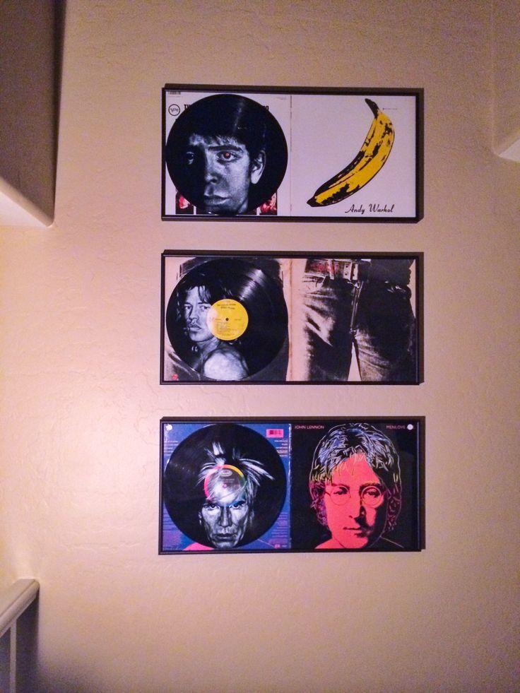 the Warhol Triptych on the stairs