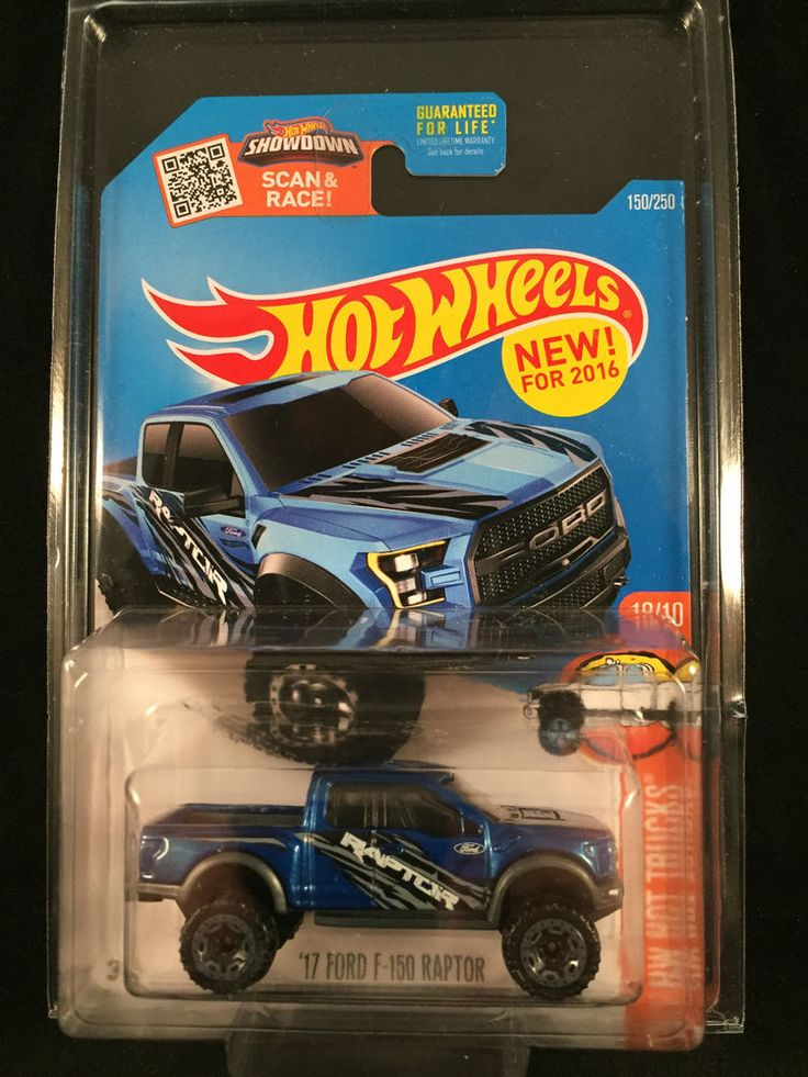 2016 Hot Wheels NEW MODEL Hot Trucks 17 FORD F 150 RAPTOR Blue #150 w/ PROTECTO #HotWheels #Ford