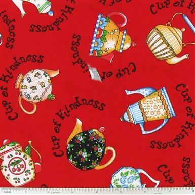Mary Engelbreit Teapots Fabric, have these in small sizes