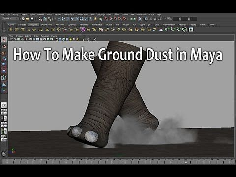 ▶ How To Make Ground Dust in Maya (파티클 먼지 만들기) - YouTube