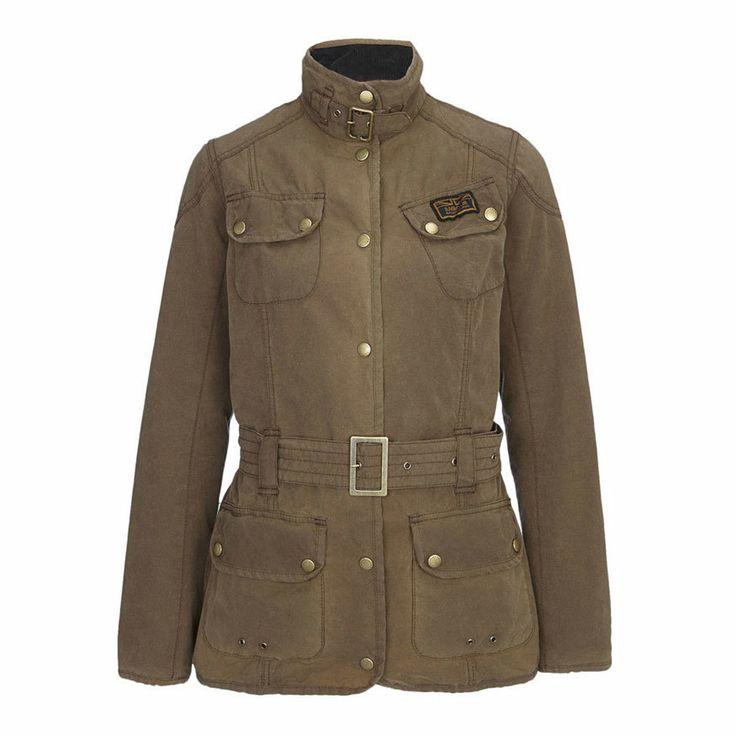 Barbour Vintage International Ladies Jacket - Sandstone | Barbour Motorcycle Jackets | FREE UK delivery - The Cafe Racer