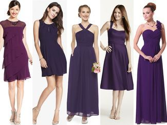 5 purple bridesmaid dresses under $100