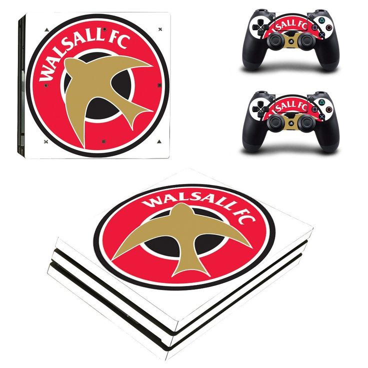 Walsall FC Ps4 pro edition skin decal for console and controllers