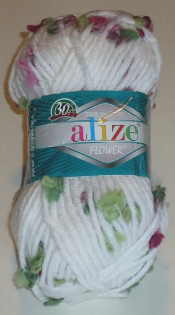 Alize Flowers fancy chunky yarn spring flowers
