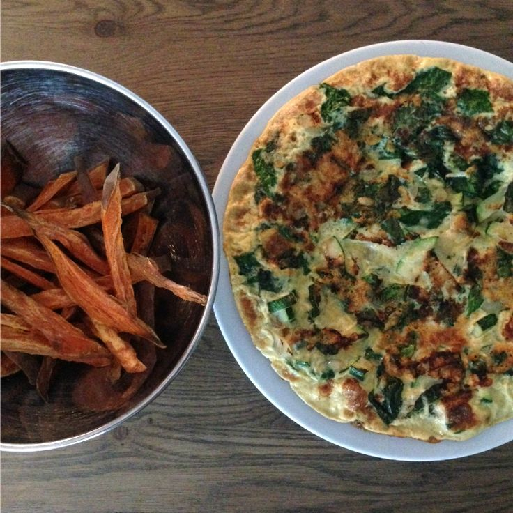 I Love Health | Groente omelet met spinazie and courgette | http://www.ilovehealth.nl