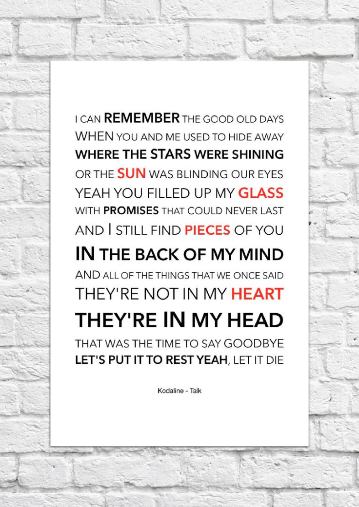 Best 25+ Kodaline lyrics ideas on Pinterest | High hopes, Happy ...